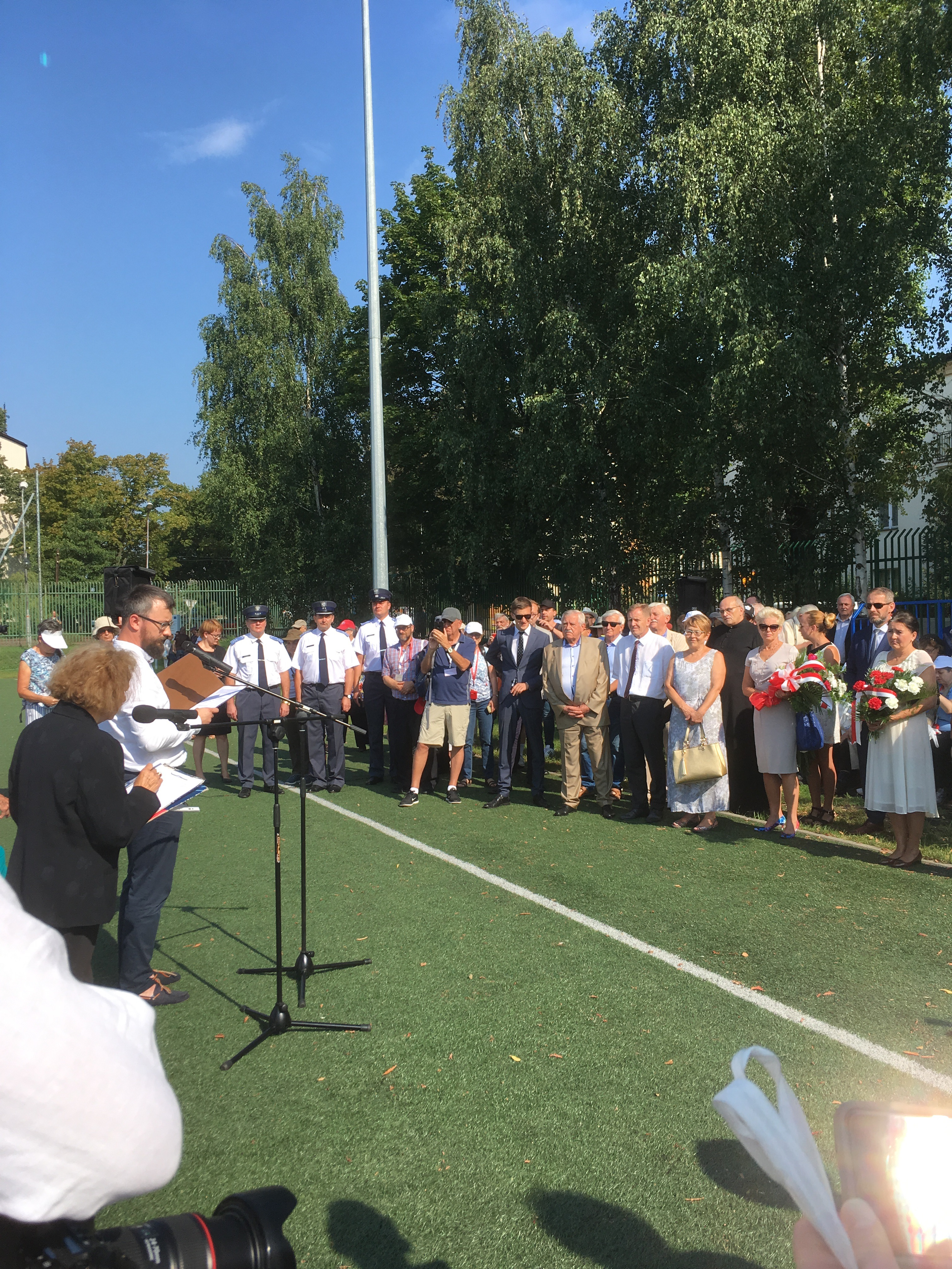 Fig 1 Sosnowiec ceremony 1 August 2018