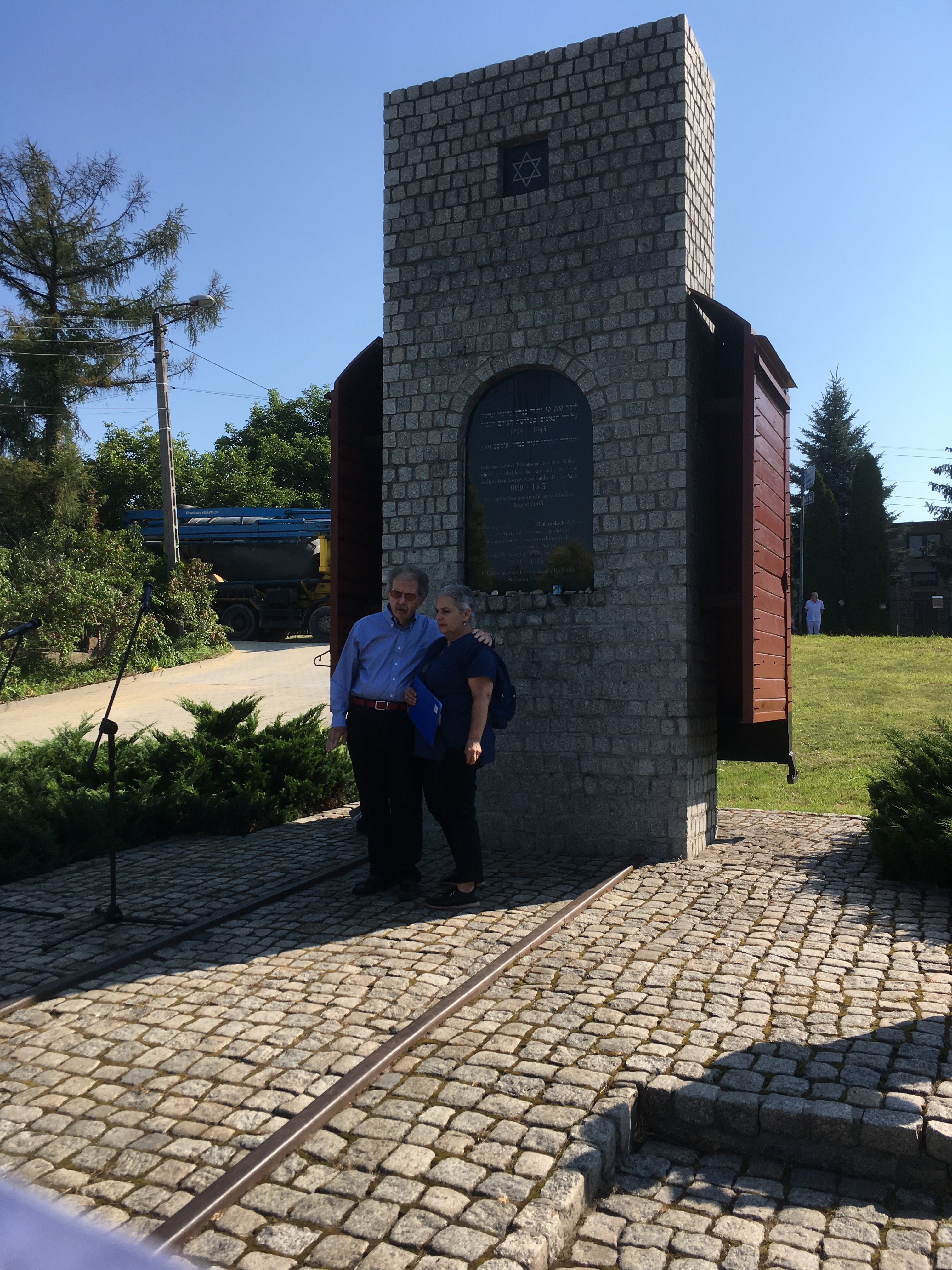 Fig 3 Bedzin Memorial ceremony Menachem Rosensaft 2 August 2018
